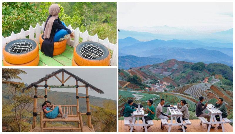 Bukit Mercury Sayang Kaak, Tempat Nongkrong Asik dan Instagramable dengan View Gunung Cermai dan Terasering Panyeweuyan di Majalengka!