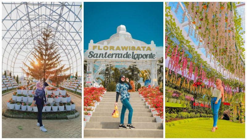 Flora Wisata San Terra, Taman Bunga Menawan di Pujon, Batu – Banyak Bangunan Ala Korea dan Belanda Loh!