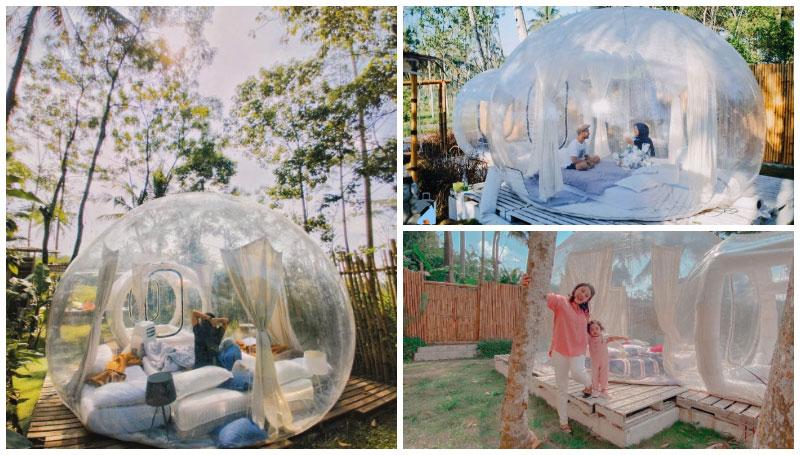 Nira Camper Village, Penginapan di Sleman dengan Konsep Gelembung Besar Tembus Pandang Seperti di Ubud, Bali!