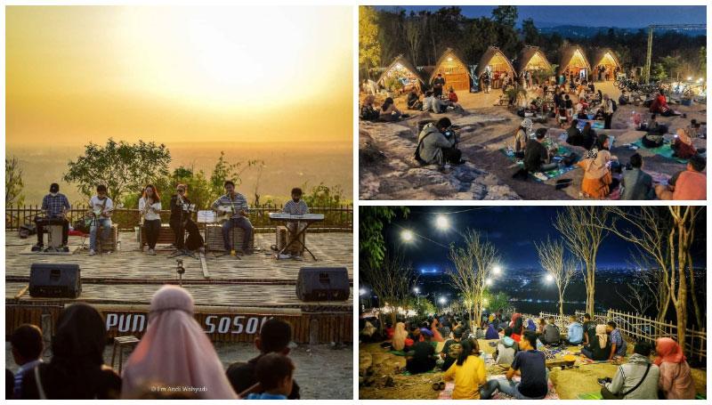 Puncak Sosok, Spot Hunting Sunset Famous di Jogja dengan Menikmati Teh Ungu Lezat Seharga 5k Aja!