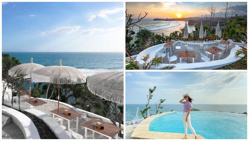 South Shore Jogja, Cafe Tepi Pantai ala Bali yang Punya Fasilitas Infinity Pool dengan View Laut Selatan Jogja!